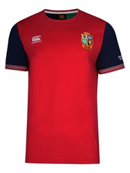 Canterbury Of New Zealand British And Irish Lions Rugby Training T Shirt Red