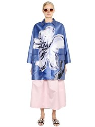 Rochas Flower Printed Duchesse Coat