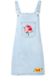 Au Jour Le Jour Denim Dungaree Dress Blue