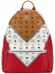 Mcm Visetos Backpack Red