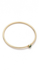 Jennifer Meyer Jewelry 18K Gold Thin Emerald Ring
