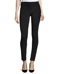 The Row Classic Suede Moto Leggings Black Size X Small