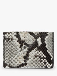 And Or Cancun Leather Card Holder Snake Effect