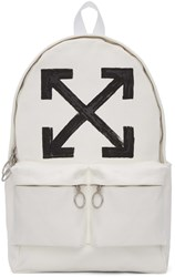 Off White Brushed Backpack