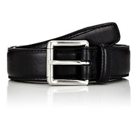 Barneys New York Men's Leather Belt Black Blue Black Blue