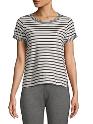 Marc New York Striped Crewneck Tee Midnight