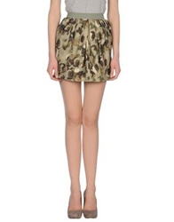 Ring Mini Skirts Military Green