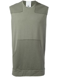 Lost And Found Rooms Sleeveless Sweatshirt Green