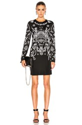 Givenchy Tattoo Dress In Abstract Black Abstract Black