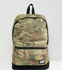 Reclaimed Vintage Inspired Camo Backpack Green