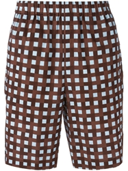Msgm Elasticated Checked Shorts