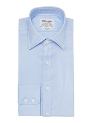 T.M.Lewin Luxury Twill Regular Fit Shirt Blue Glow