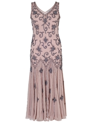 Chesca Beaded Flapper Dress Powder Pink
