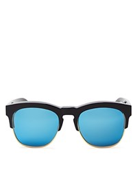 Wildfox Couture Mirrored Fox Deluxe Sunglasses 54Mm Black Blue Mirror