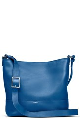 Shinola Small Relaxed Leather Hobo Bag Blue Bluestone