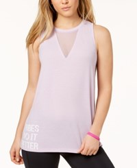 Material Girl Active Juniors' Mesh Inset Tank Top Created For Macy's Lilac Field