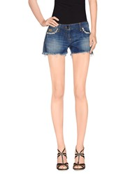 Elisabetta Franchi Gold Denim Denim Shorts Women Blue