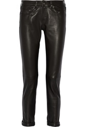 Rag And Bone The Dre Leather Mid Rise Slim Boyfriend Jeans