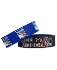 Aminco New York Rangers Wide Bracelet 2 Pack