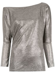 Tufi Duek Long Sleeved Top Metallic