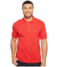 Lacoste L1212 Classic Pique Polo Shirt Grenadine Men's Short Sleeve Knit Red