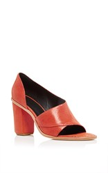 Tibi Burnt Orange Dillon Semi Closed Sandals Red