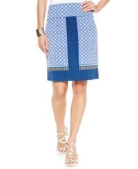 Studio M Pattern Blocked Pencil Skirt