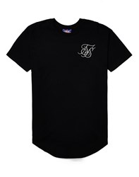 Sik Silk Siksilk Curved Hem T Shirt Black