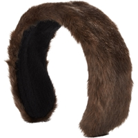 Jennifer Ouellette Faux Fur Headband Brown