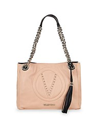 Valentino By Mario Valentino Luisa Leather Tote Bag Rose