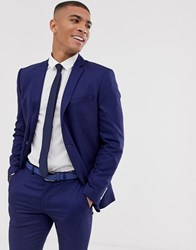 Selected Homme Slim Suit Jacket With Patch Pockets In Blue