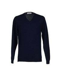 Mauro Grifoni Knitwear Jumpers Men Dark Blue