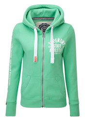 Superdry Track And Field Zip Hoodie Green