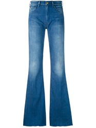 Cycle Flared Jeans Women Cotton Spandex Elastane 28 Blue