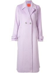 Manning Cartell Classic Single Breasted Coat Purple