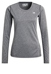 New Balance Long Sleeved Top Black Heather Mint