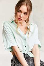 Bdg Jean Tie Front Blouse Green