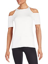 Bailey 44 Cutout Shoulder Stretch Jersey Top White