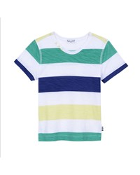 Splendid Striped Notch Neck Jersey Tee