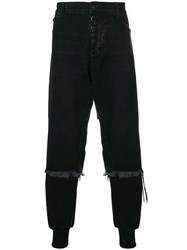 Unravel Project Denim Layered Track Pants Black