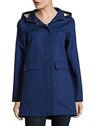Kate Spade Hooded A Line Jacket Navy