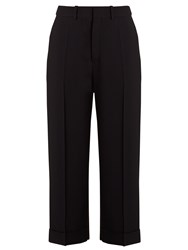 Chloe Crepe Pleated Trousers Blue