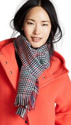 Franco Ferrari Kilt Plaid Scarf Red Blue