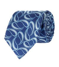 Turnbull And Asser Honeycomb Teardrop Silk Tie Unisex Blue