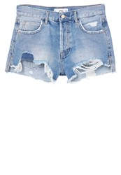 Mango Mom Denim Shorts Medium Blue