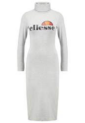 Ellesse Balbina Jersey Dress Ath Grey Marl Mottled Grey