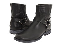 Frye Phillip Harness Black Soft Vintage Leather Women's Pull On Boots