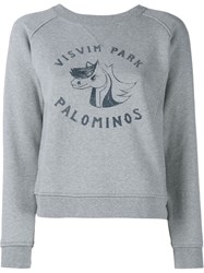 Visvim College Print Sweatshirt Grey