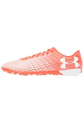 Under Armour Cf Force 3.0 Tf Astro Turf Trainers Neon Coral White