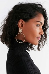 Urban Outfitters Ava Statement Hoop Earring Gold
